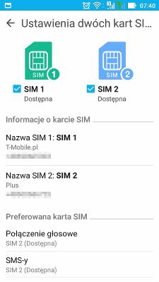 Asus Zenfone Max dual sim settings