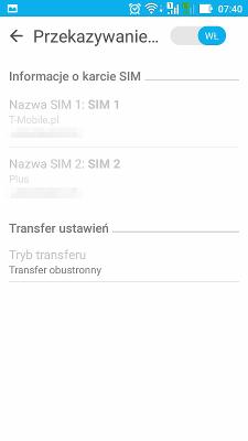 Asus Zenfone Max dual sim settings - forwarding