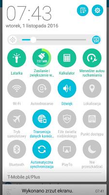 Asus Zenfone Max quick access